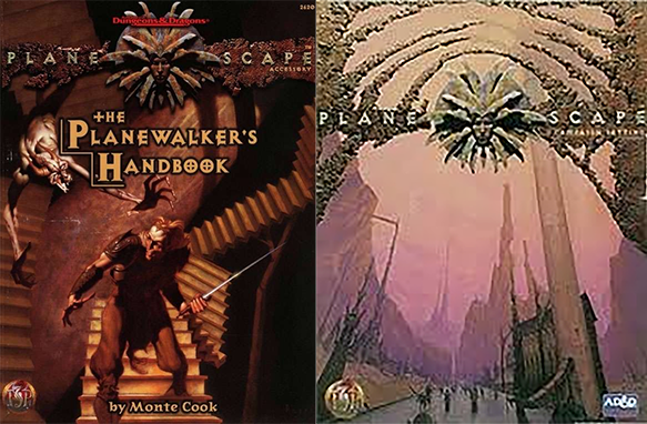 Covers to Planewalker's Handbook and Original Boxed Set